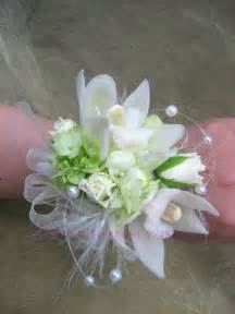 Prom Wrist Corsage White Roses