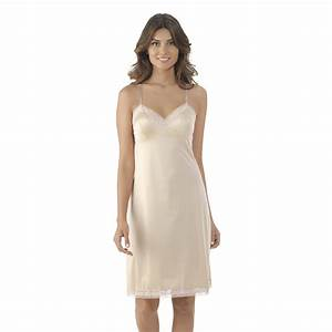 vanity fair women39s rosette lace full slip 10103 With fond de robe coton