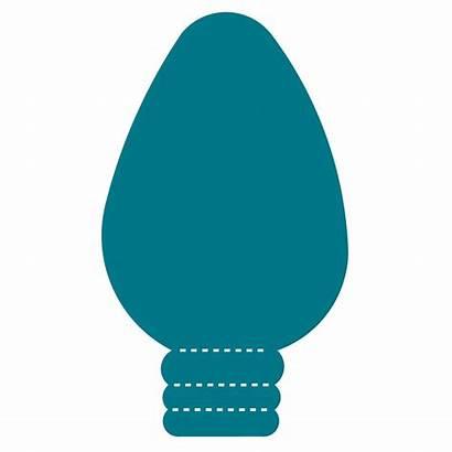 Christmas Bulb Clipart Lightbulb Clip Bulbs Outline