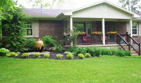 landscaping ideas for ranch house niesz vintage home and fabric porch railing planter boxes