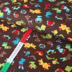 Jersey Stoffe Kinder : jersey stoff bunte tiere hunde katzen v gel braun g nstig kaufen ~ Markanthonyermac.com Haus und Dekorationen