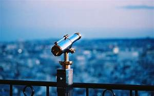Looking Through Telescope - wallpaper.