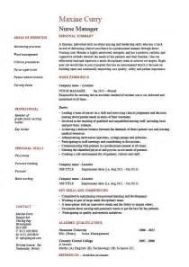 manager resume cv description exle sle