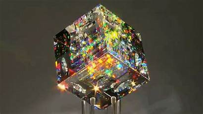 Glass Cold Cube Refract Sculptures Gorgeous Optical