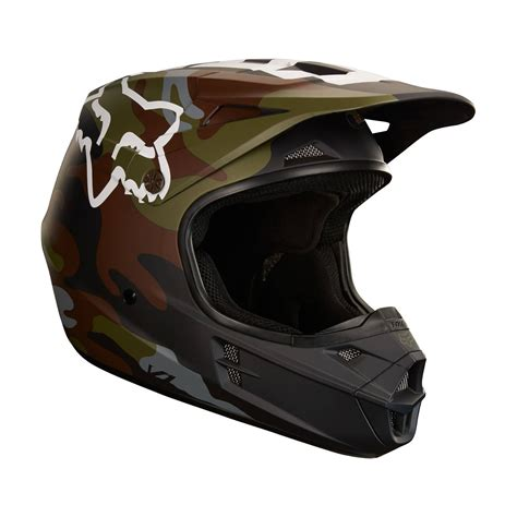 dirt bike helm fox racing v1 camo helmet helmets dirt bike closeout