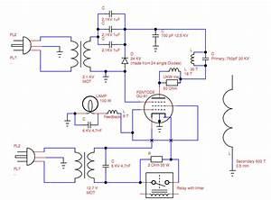 Vacuum Tube Tesla Coil  Vttc  Schematic Interpretation