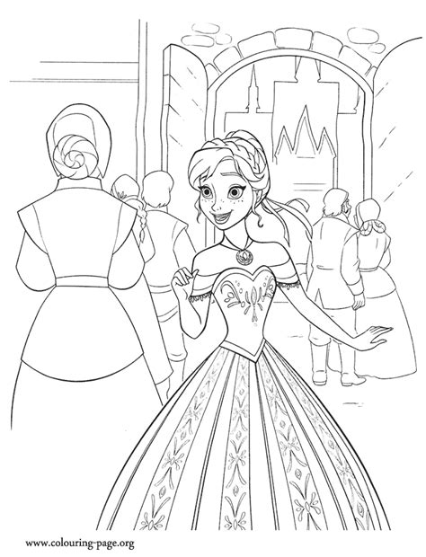 frozen anna excited   ceremony coloring page
