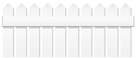 White Fence Png Clipart