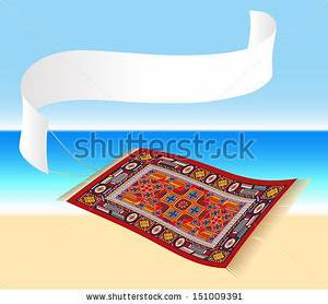 Flying carpet stock images royalty free images vectors for Flying carpet logo