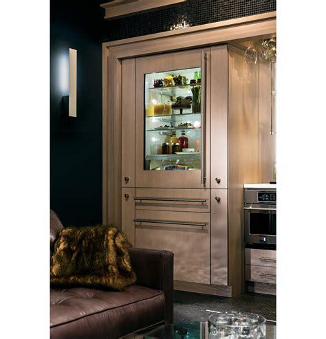 zikgnzii monogram  fully integrated glass door refrigerator  convertible drawer