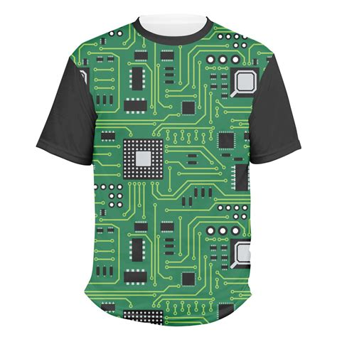 Circuit Board Men Crew Shirt Large Personalized