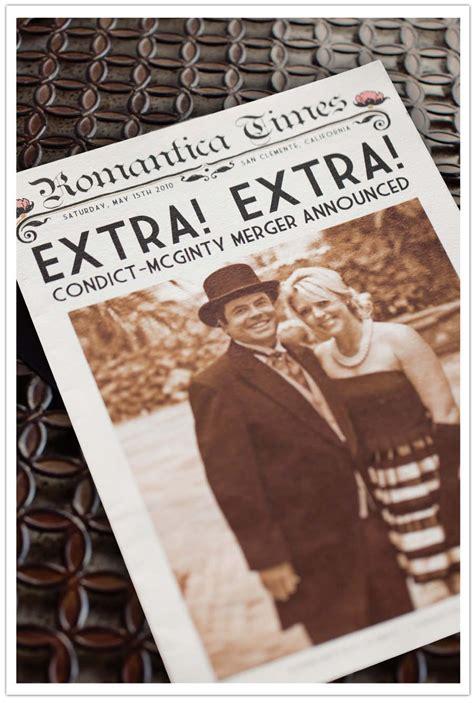 wedding program newspaper template loving  newspaper