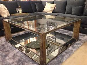 Best mirrored coffee table furniture for your room for Mirrored coffee table and end tables