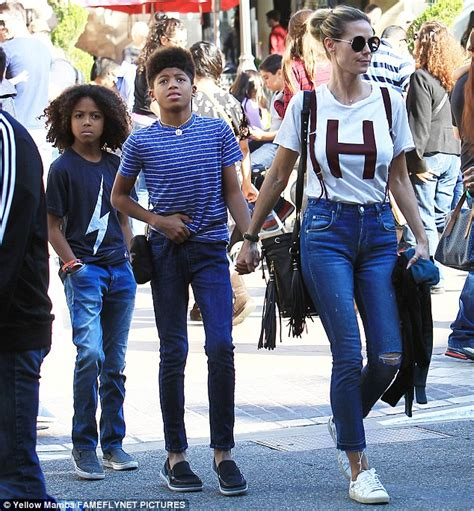 Maybe you would like to learn more about one of these? Heidi Klum braves Black Friday bustle as she takes sons shopping in LA   Daily Mail Online