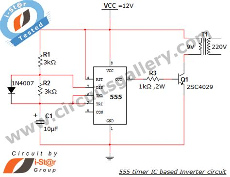 timer ic inverter circuit schematic    circuits gallery