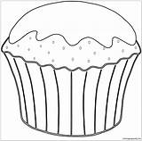 Muffin Coloring Pages sketch template