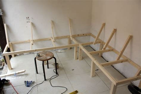 how to build a corner kitchen table build a corner booth seating bench for all seasons