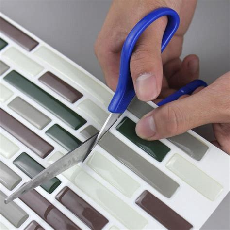 Stick On Bathroom Wall Tiles by 3d Adhesive Faux Tile Vinyl Peel And Stick Tiles Subway
