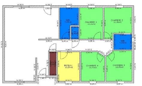 plan de maison plain pied 4 chambres gratuit plan de maison 4 chambres plain pied plans maisons