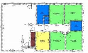 plan de maison 4 chambres plain pied plans maisons With plan maison 4 chambres plain pied gratuit