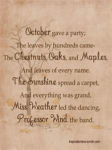 A delightful fall poem that reminds me of my mother-in-law ...