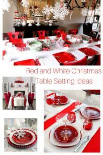 inexpensive centerpieces and white christmas table setting ideas hip who