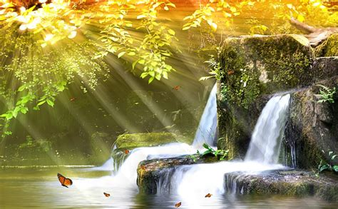 Free Animated Waterfall Wallpaper - charm waterfall animated wallpaper