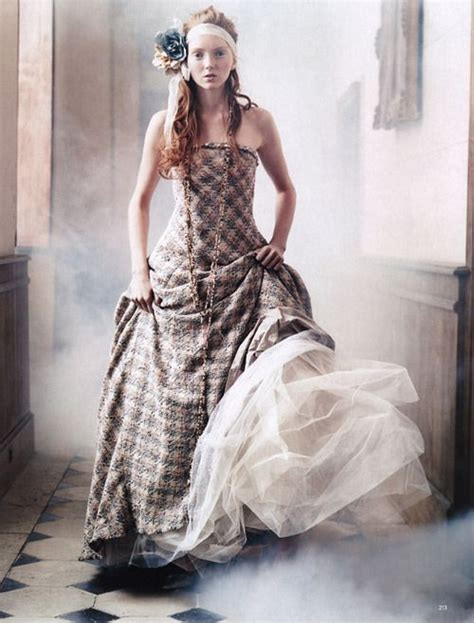 lily cole house lily cole in chanel fall 2004 haute couture for the house