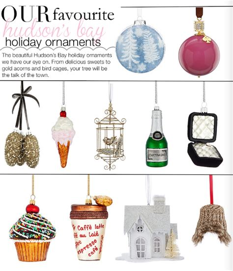 our favourite hudson s bay holiday ornaments pink the town
