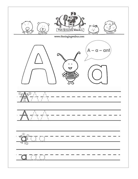 handwriting worksheets   alphabet
