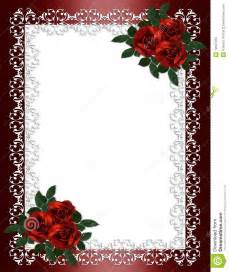 funeral stationery wedding invitation border roses royalty free stock