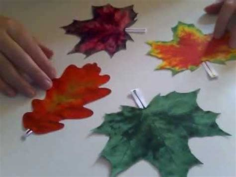 ls made from leaves how to make paper leaves youtube
