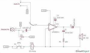 Audio Voice Over Circuit Diagram Using Lm386