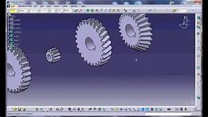 Gear 3d Modeling In Catia V5 By Programming  Efficiency Of