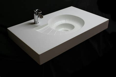 hand  custom concrete shell sink   concrete sink