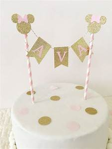 Minnie Mouse Cake Topper ~ Pink and Gold Party ~ First