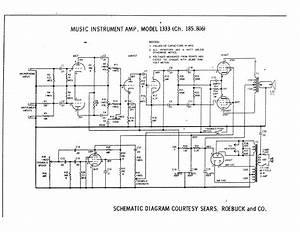 Silvertone 1333 Sch Service Manual Download  Schematics