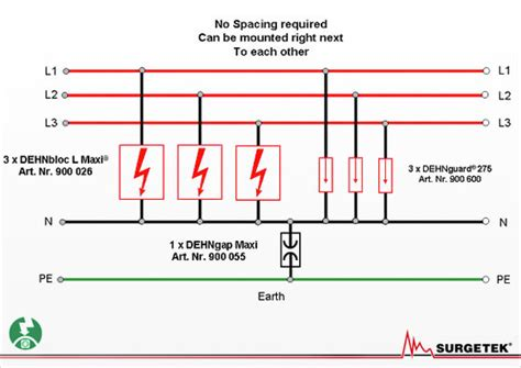 surge arrester wiring diagram 3 phase wiring diagram for surge protection 3 get free