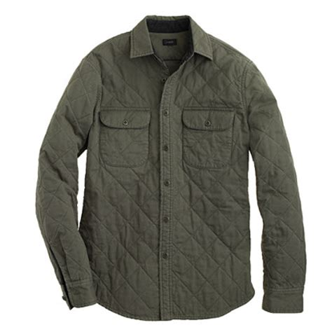 quilted shirt mens j crew quilted shirt jacket mensfash