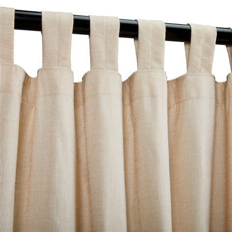 Sunbrella Drapes - sheer honey sunbrella outdoor curtains with tabs