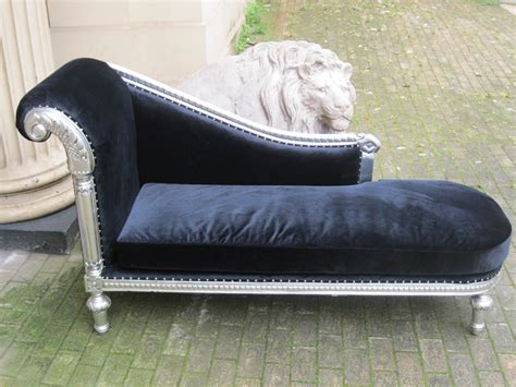 Copridivano Con Chaise Longue Shabby Chic : Mahogany Ornate French Shabby Chic Silver Leaf Black