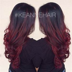 Ombré Hair Rouge : 25 best ideas about dark red balayage on pinterest ~ Melissatoandfro.com Idées de Décoration