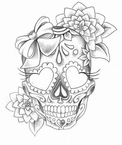 Face Woman Skull Dead Sugar Drawings Drawing