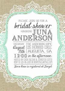 shower invitations burlap lace and in love on pinterest With lace wedding shower invitations