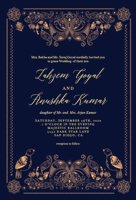 Indian Wedding Invitation Card Templates (Free
