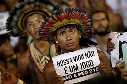 Indigenous Brazil Games Protest Sports Protesters Fought
