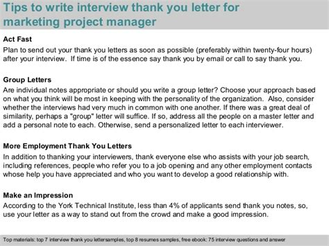 Thank You For Your Resume Response by Marketing Project Manager