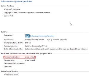 si鑒e ordinateur windows dos comment trouver le nom de ordinateur