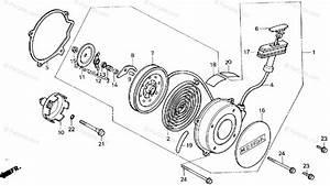 Honda Atv 1986 Oem Parts Diagram For Recoil Starter