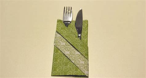 Servietten Als Tasche Falten by Servietten Falten Effektvolle Tischdeko Schnell Bis